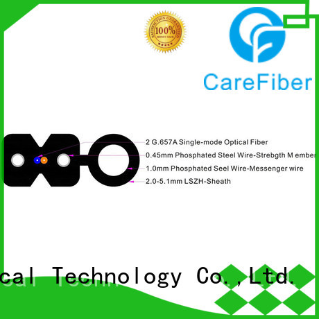 Carefiber reliable fiber optic drop wire factory for network