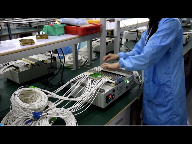 Carefiber Optical - Pre-terminated connector process - fiber solidification