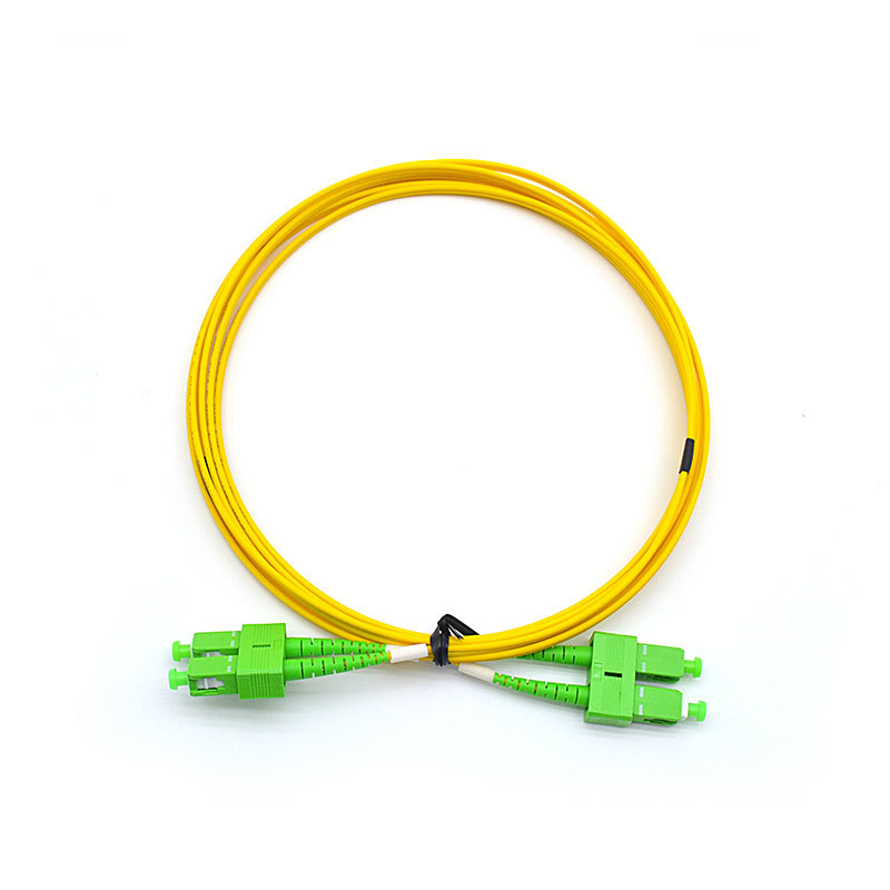 SC-APC-SC-APC-SM Duplex Fibre Optical Patch Cords 2.0mm LSZH 3m