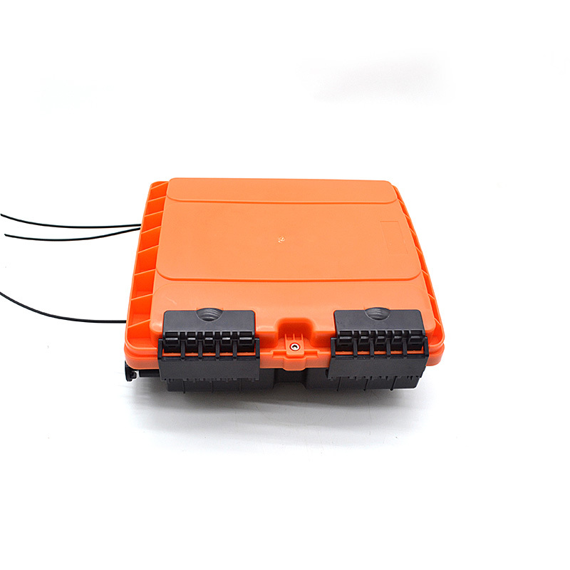 FTTH Aerial Outdoor 16 Core Ditribution Fiber Box Black Orange Blue Cover