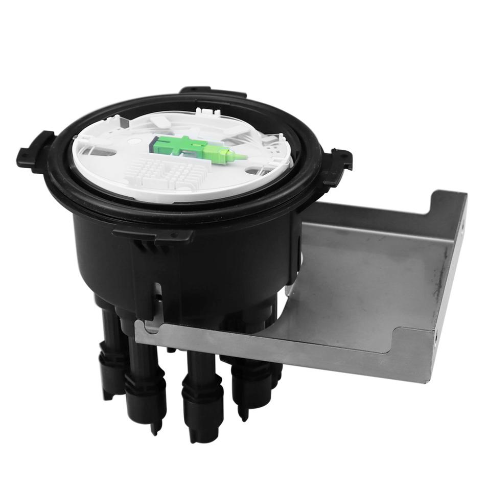 PP Material Fiber Optic Splice Closure Waterproof IP68 Dome Type 2 In 8 Wall Mounted
