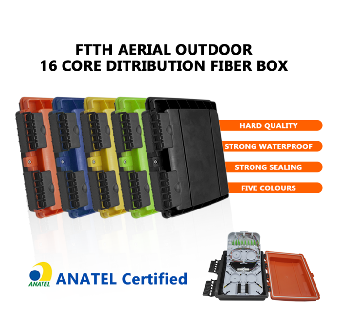 UV Resistant 16 Core Optical Fiber Distribution Box 5 Cores FTTH Aerial Outdoor