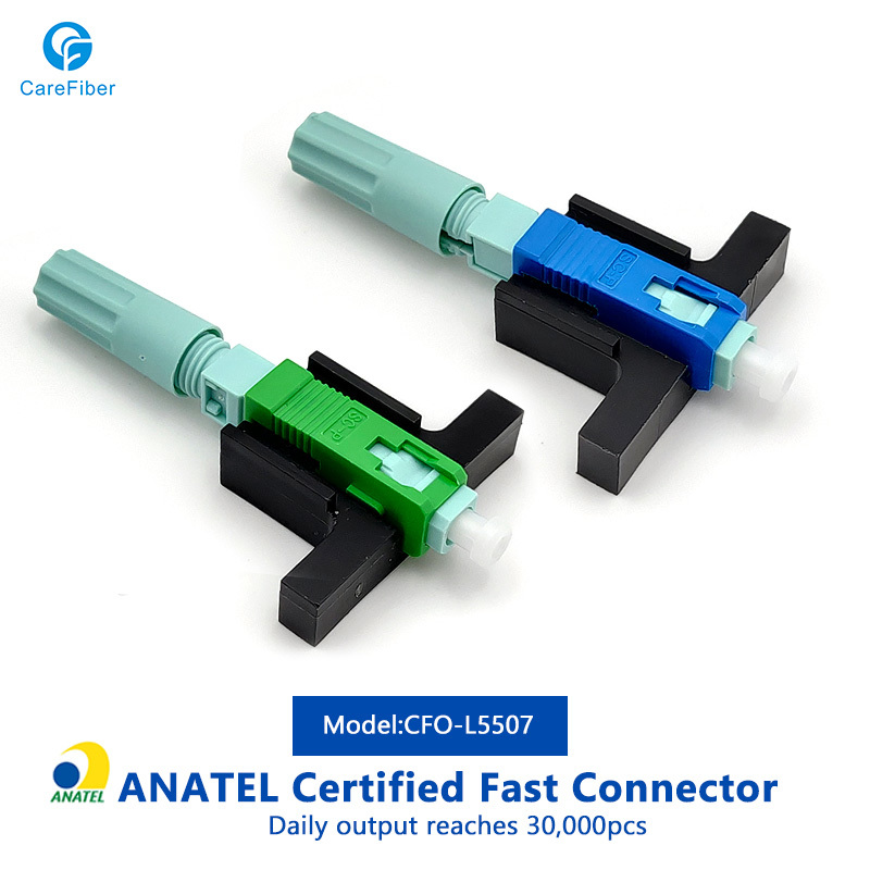 FTTH SC-APC/UPC screwed type fiber optical fast connector