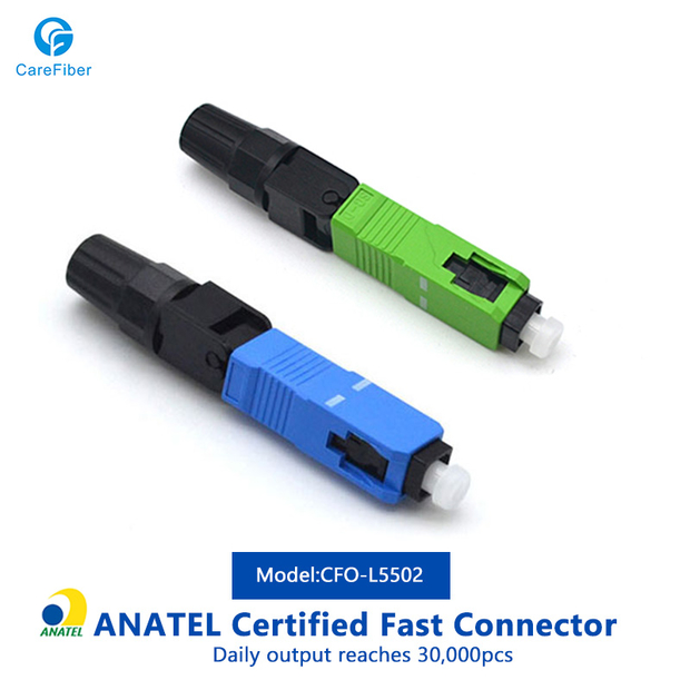 CATV Pre - Polished Fiber Connectors , Blue Field Installable Fiber Optic Connector