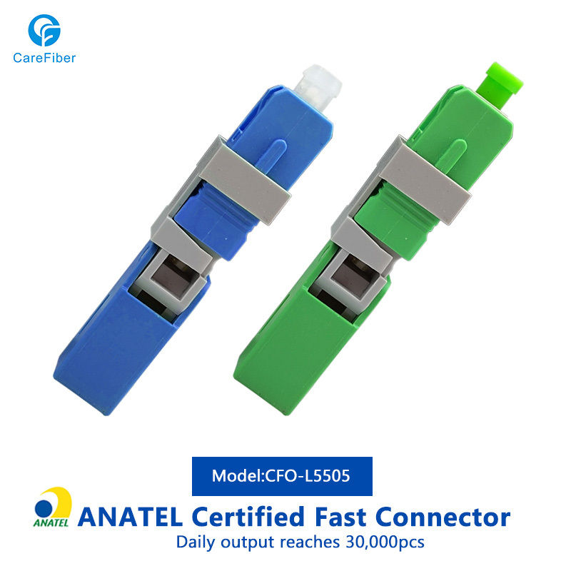 ANATEL Certificated Click Tipo Optic Fiber Fast Connector