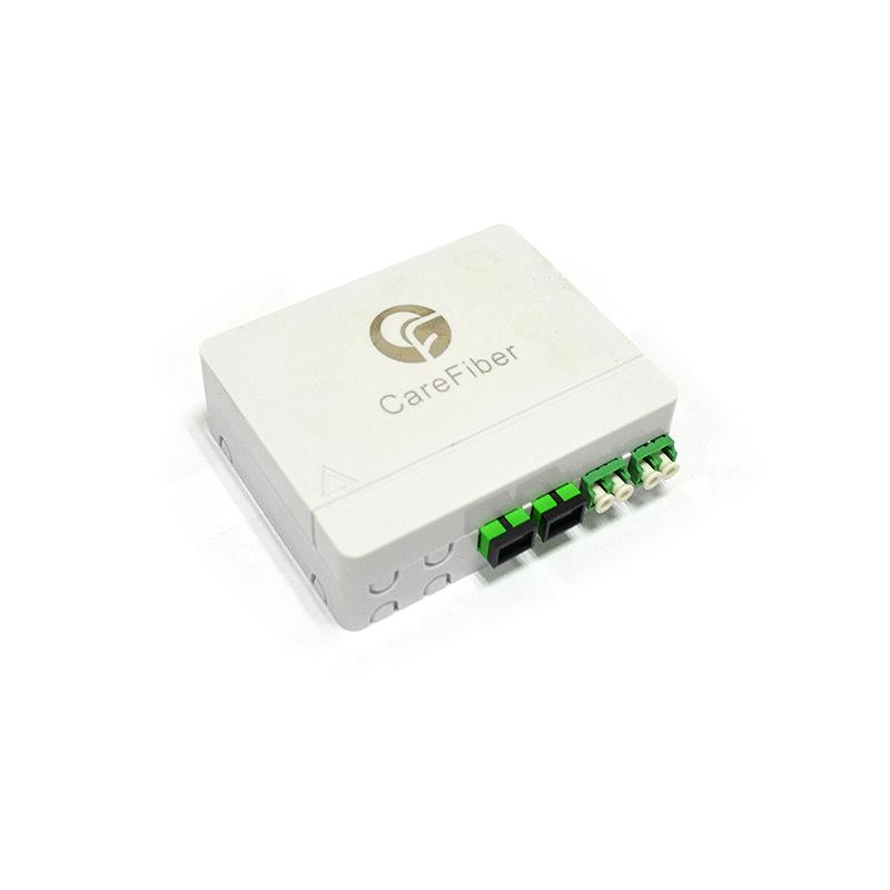 PC ABS Fiber Optic Distribution Box FTTH 4 Core With SC/APC LC/APC Adpaters