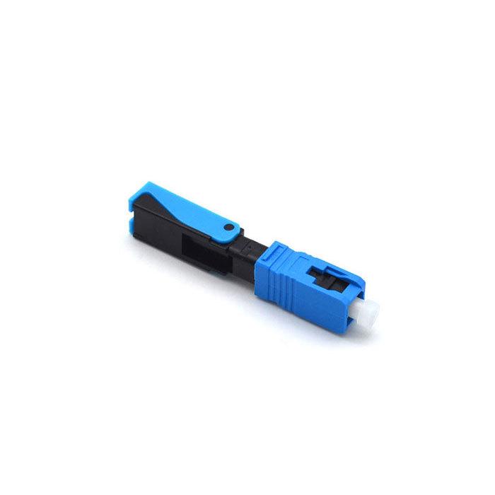 Green Fiber Optic Fast Connector 52mm Fiber Optic SC Connector For 2 X 3mm Drop Cables