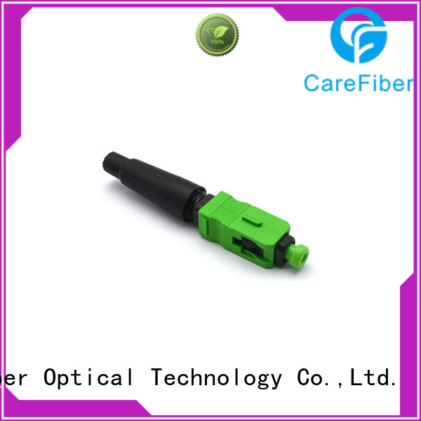 Carefiber new lc fiber connector fiberfast for consumer elctronics