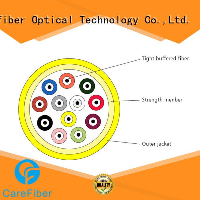 Carefiber high quality fiber optic indoor gjfv for building