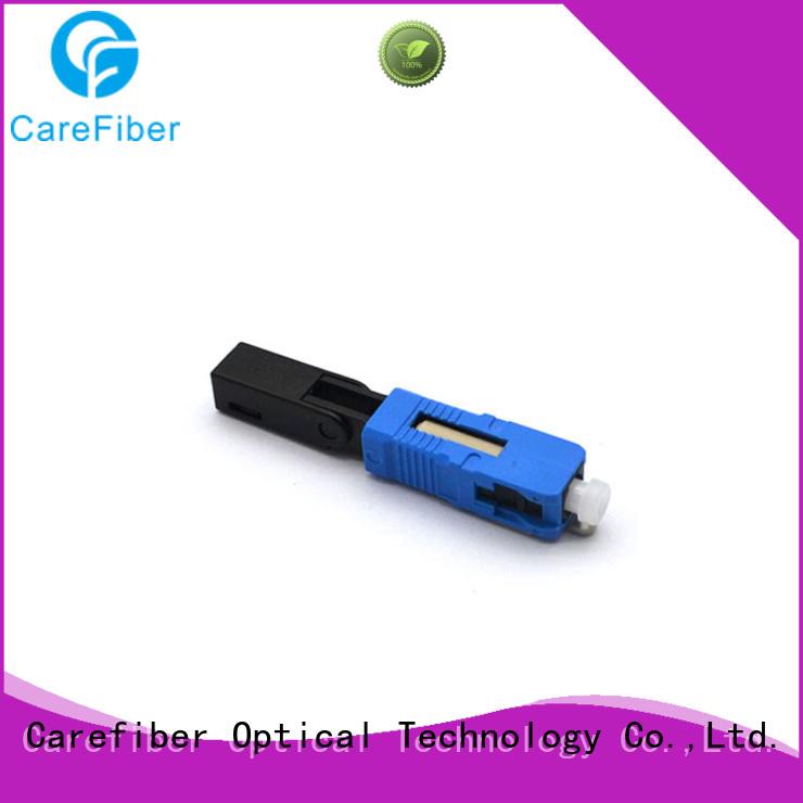 Carefiber fiberfast plastic fiber optic cable connectors provider for consumer elctronics