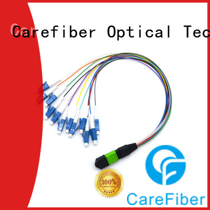 MPO-LC 12 muti-color tight buffer fiber patch cords 0.3m