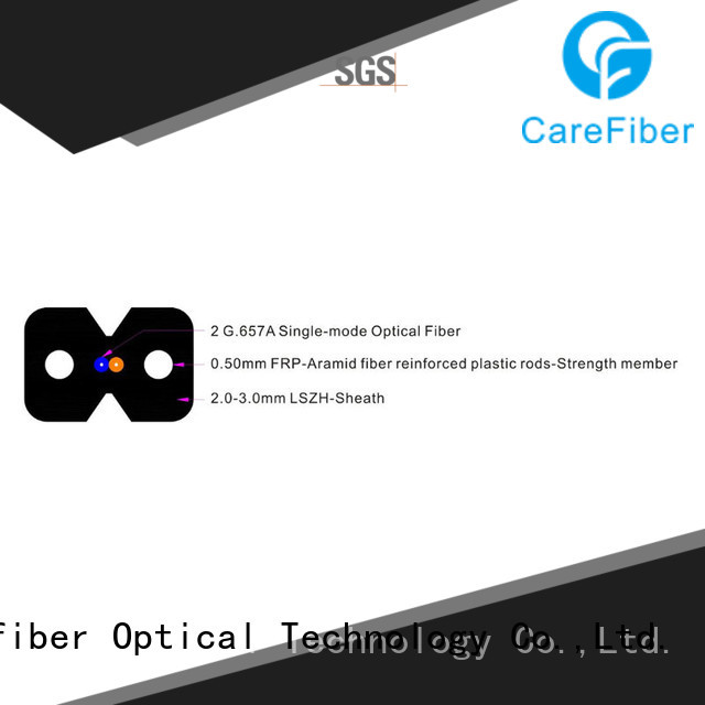 Carefiber variety of ftth indoor drop cable trader for wholesale
