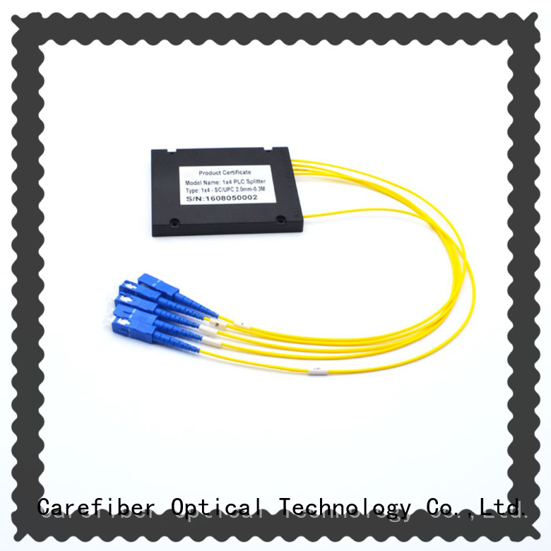 Carefiber quality assurance optical cord splitter foreign trade for communication