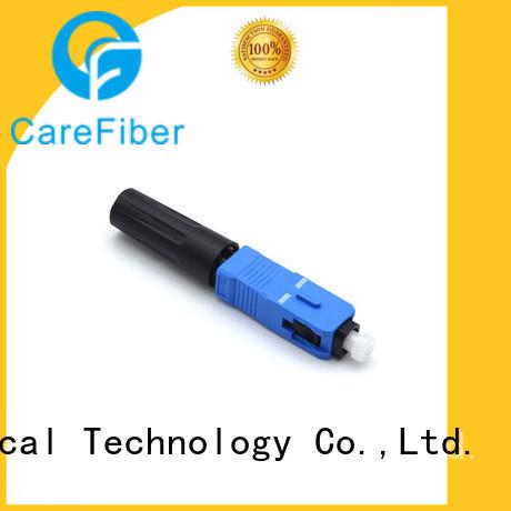 Carefiber dependable fiber optic quick connector lock for distribution