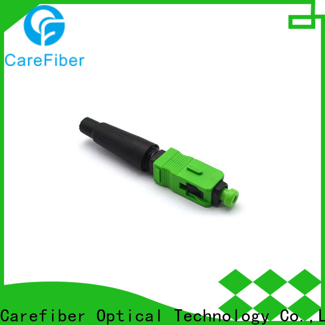 Carefiber optic lc fast connector provider for distribution
