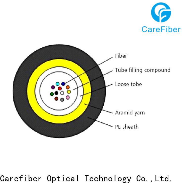 Carefiber gcyfy single mode fiber optic cable manufacturer for overseas market