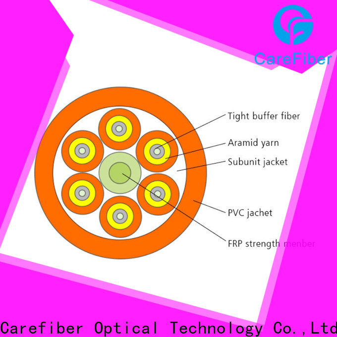 Carefiber high quality fiber optic 4 core maker for building