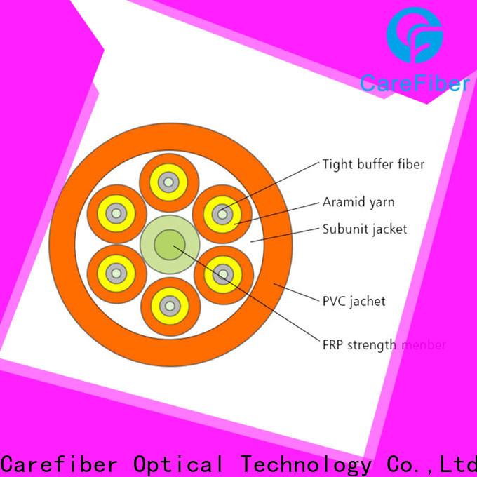 Carefiber high quality fiber optic 4 core maker for building