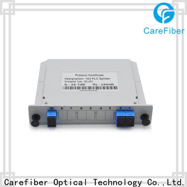 Carefiber quality assurance plc fiber splitter foreign trade for communication