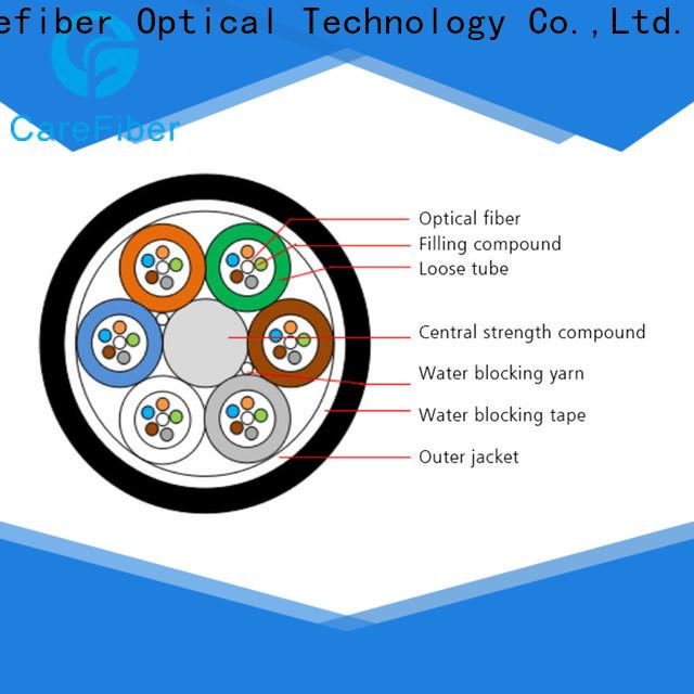 Carefiber high quality fiber optic network cable manufacturer for importer