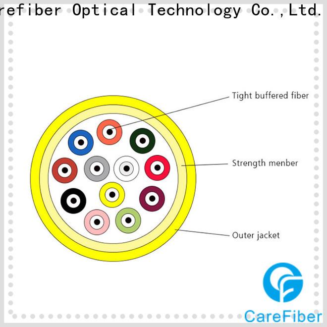 Carefiber gjpfjv single mode fiber cable maker for indoor environment