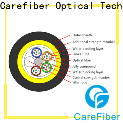Carefiber high-efficiency adss fiber optic cable made in China for communication
