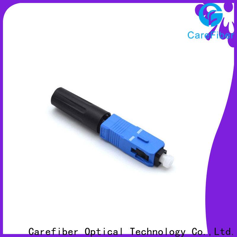 Carefiber upc fiber optic fast connector provider for distribution