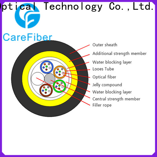 Carefiber high reliability adss fiber cable for communication