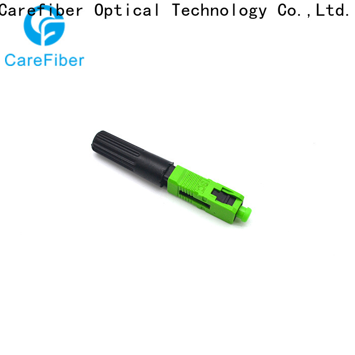 Carefiber dependable lc fast connector provider for distribution