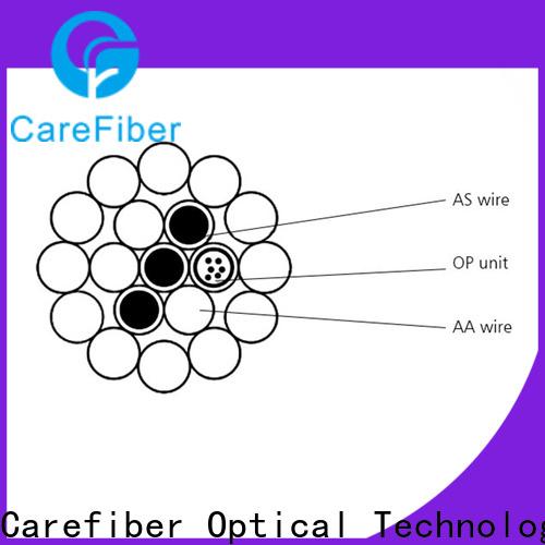Carefiber opgw fiber optic cable internet manufacturer for electric lines