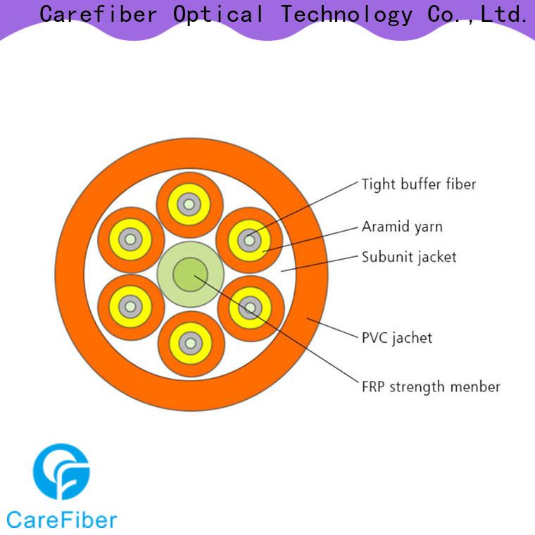 Carefiber gjbfjv single mode fiber cable well know enterprises for indoor environment