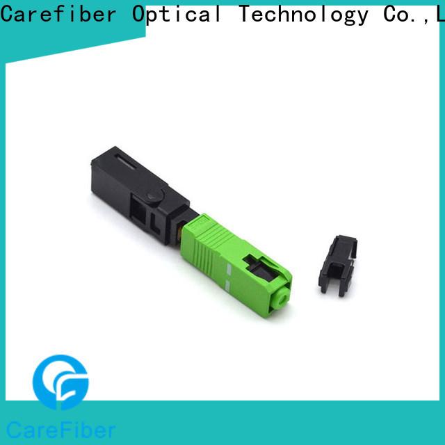 Carefiber lock fiber optic fast connector provider for consumer elctronics