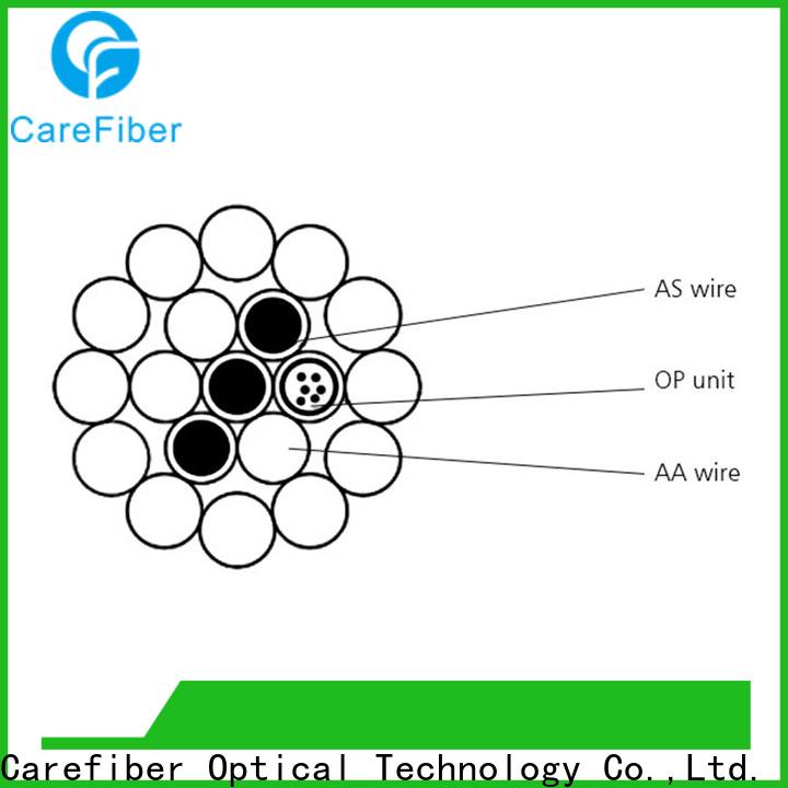 Carefiber opgw fiber optic cable internet order online for electric lines