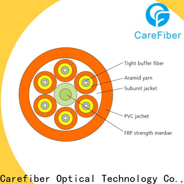 Carefiber high quality fiber optic 4 core maker for indoor environment