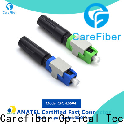 Carefiber optic fiber optic cable connector types provider for distribution