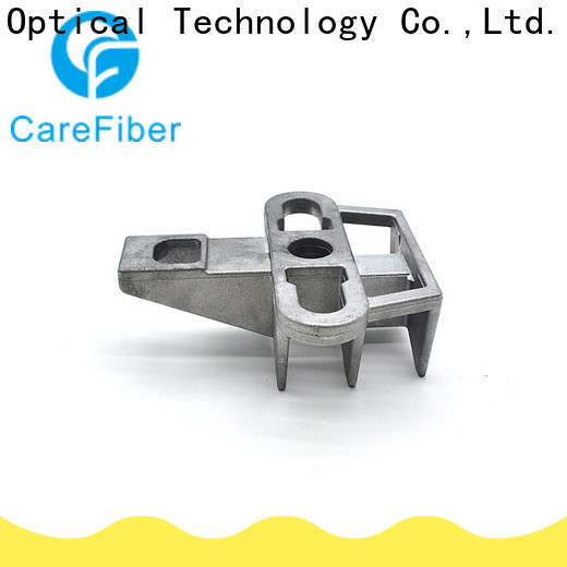 Carefiber tension j hook clamp for communication