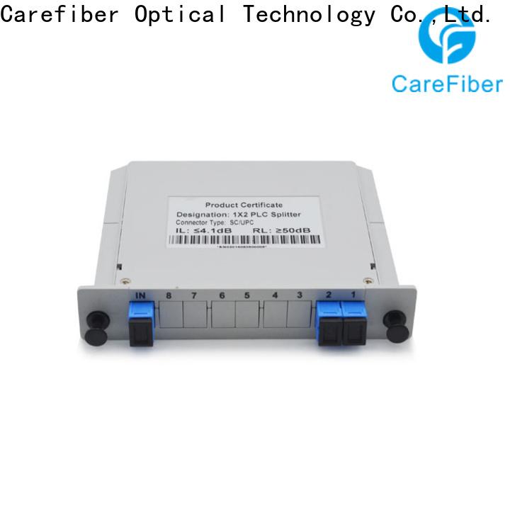 Carefiber 1x64 plc optical splitter cooperation for industry