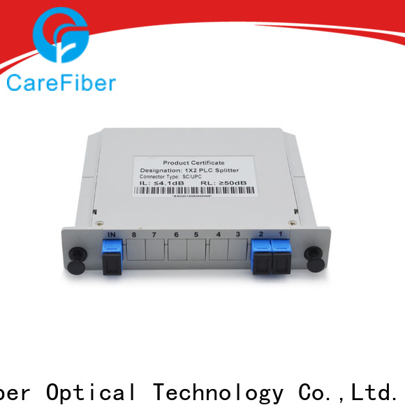 Carefiber quality assurance optical splitter cooperation for communication